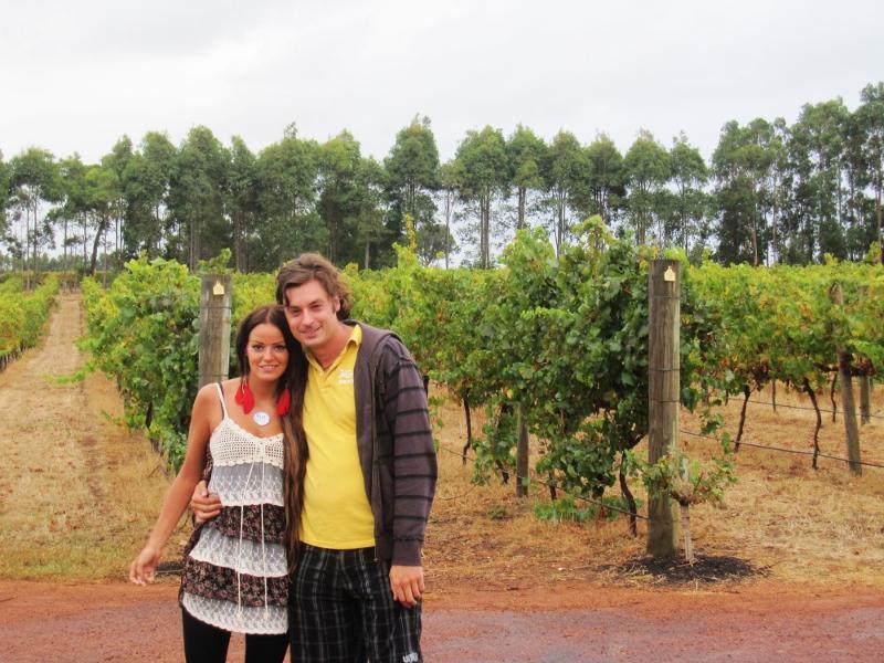 Viinin tissuttelua Margaret Riverillä