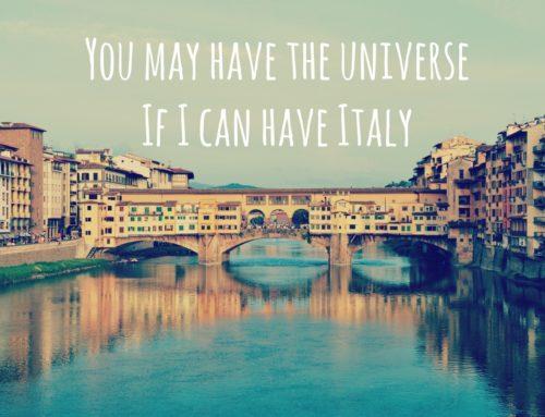 Tulin, näin, söin – Vinkkejä ja havaintoja Italiasta
