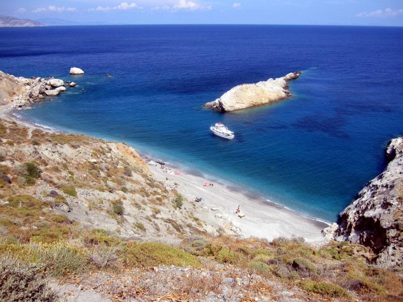 Folegandroksen rantaa