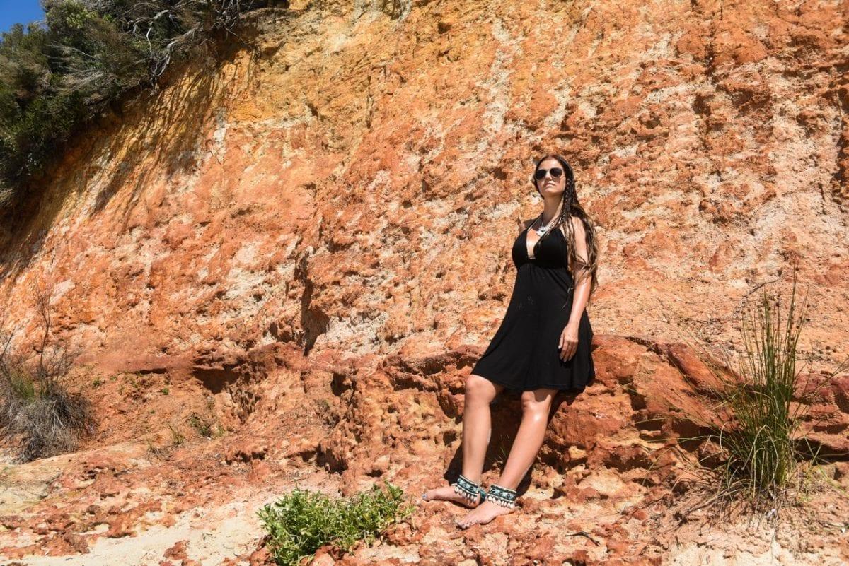 värikkäitä kallioita, Jervis Bay, Australia