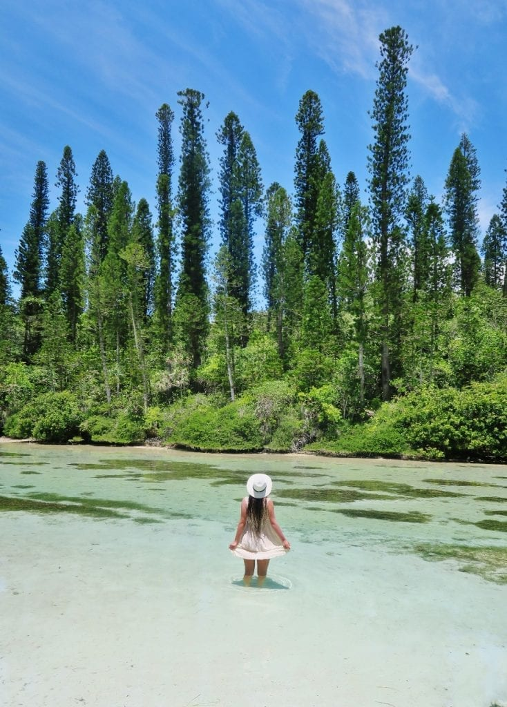 Luonnon uima-allas, Uusi-Kaledonia, Isle of Pines