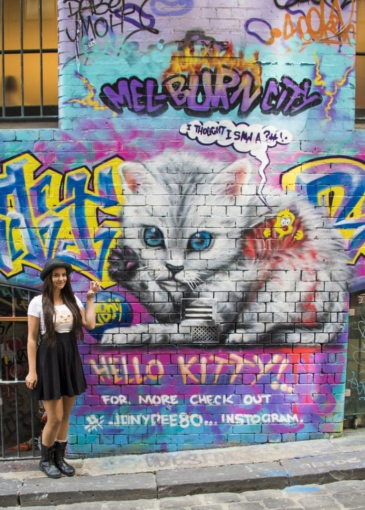 Melbournen street art vinkit