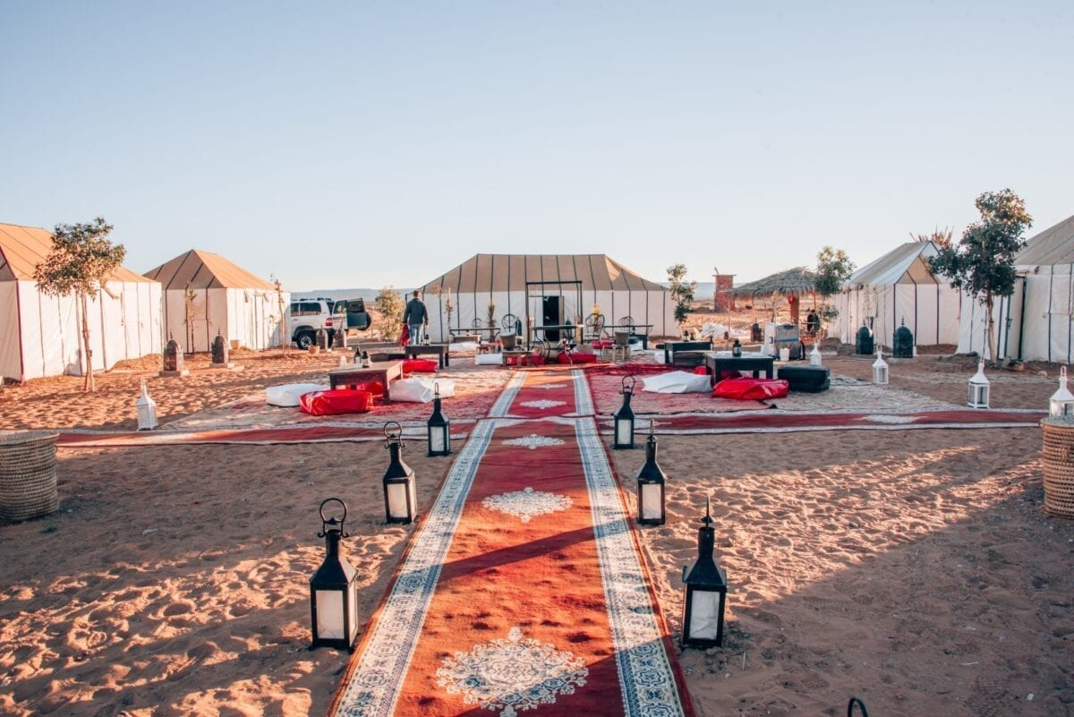 luksustelttailua Marokossa